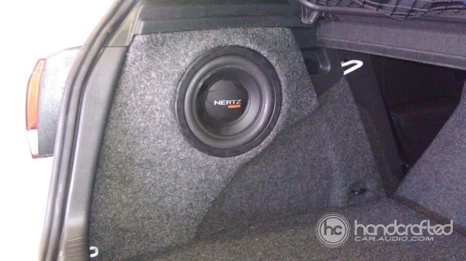 Bose Car Speakers >> 2011 Volkswagen GTI custom subwoofer enclosure and speaker ...