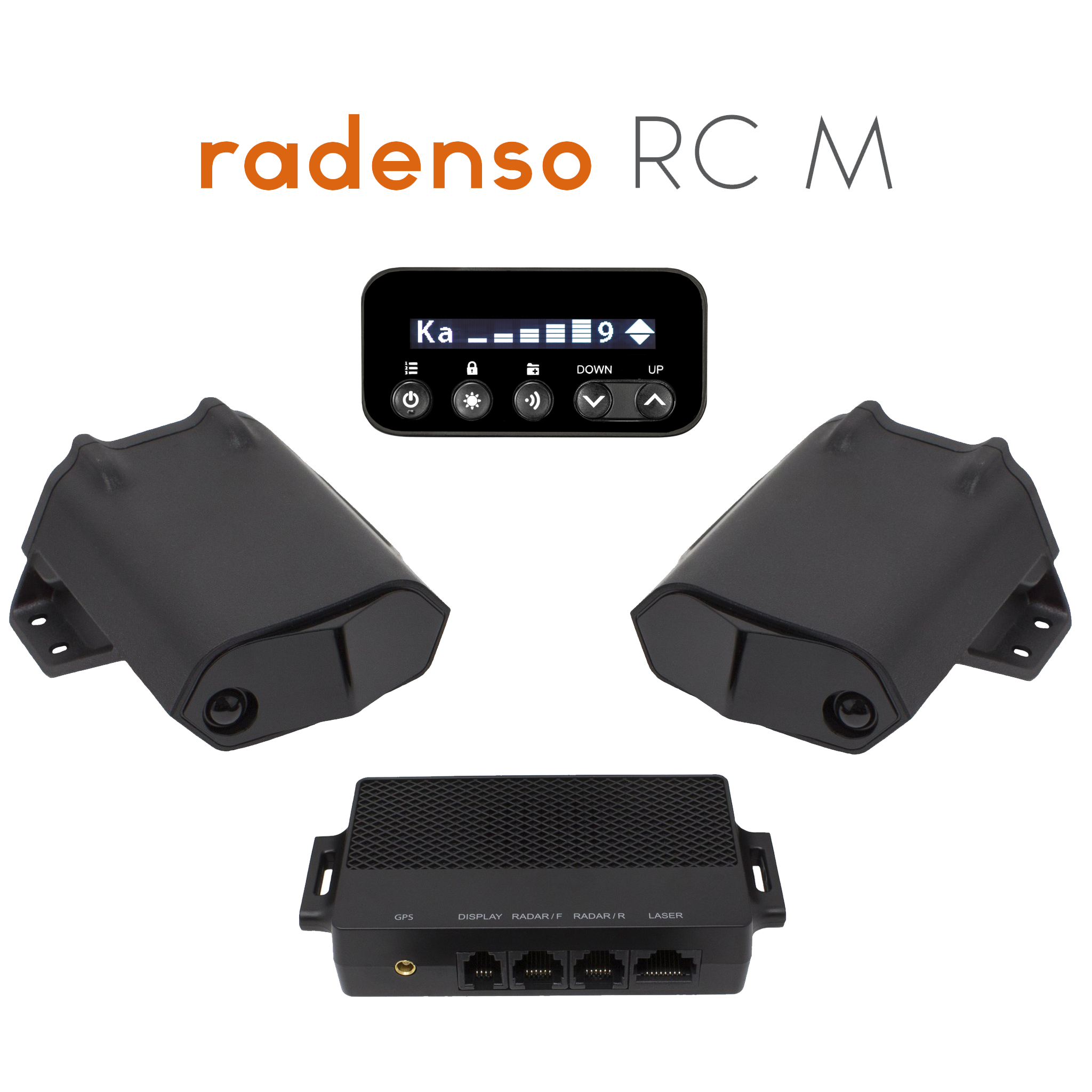 Radenso Ultimate system showing all of the equipment included